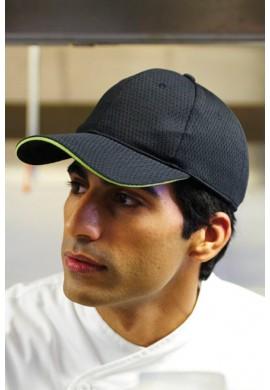 COOL VENT™ BASEBALL CAP WITH COLOR TRIM kuchařská čepice